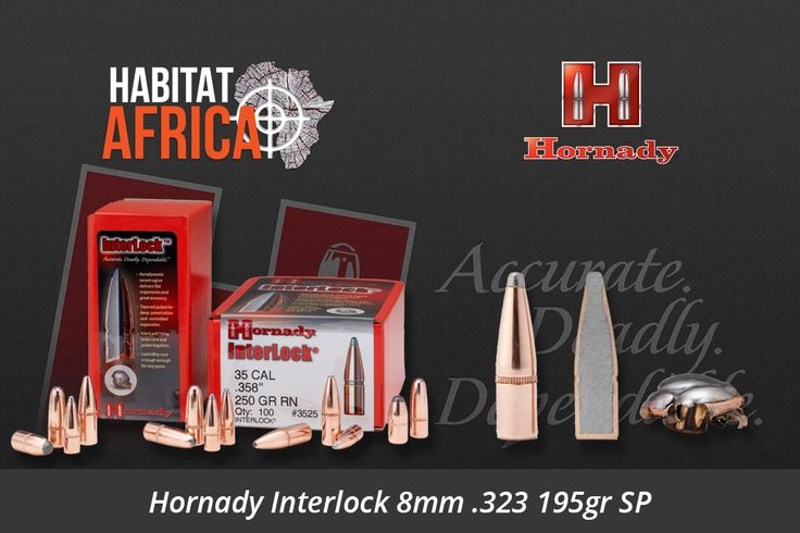 The Hornady Interlock 8mm .323 195gr SP stems from Hornady's traditional line of bullets which feature exposed lead tips for controlled expansion and hard hitting terminal performance. Most have our pioneering Secant Ogive design-one of the most ballistically efficient profiles ever developed. Most feature our exclusive InterLock design – a [...]