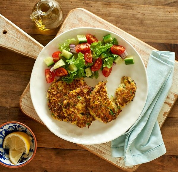Vegetable Fritters. I substituted broccoli for zucchini and spring onion for onion. Added season all and pepper.