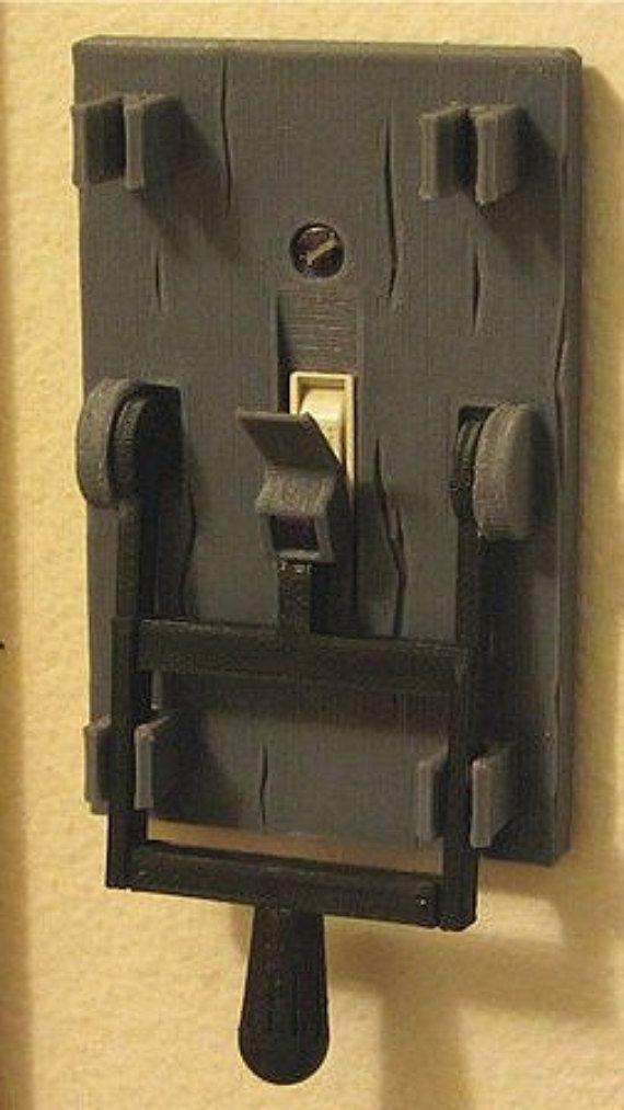 3D gedruckt Frankenstein Light Switch Platte 3 von nicksprints85