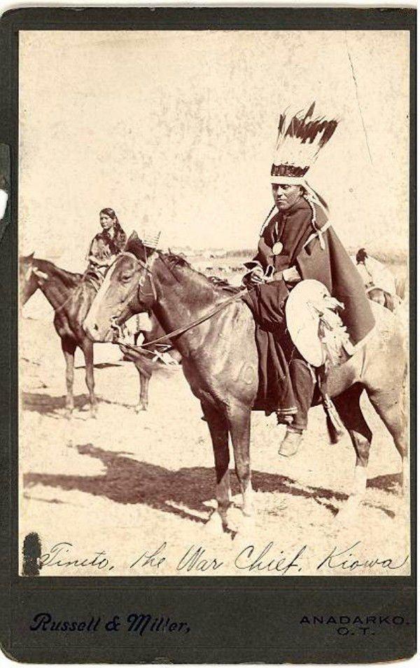 TINETO KIOWA WAR CHIEF 1890