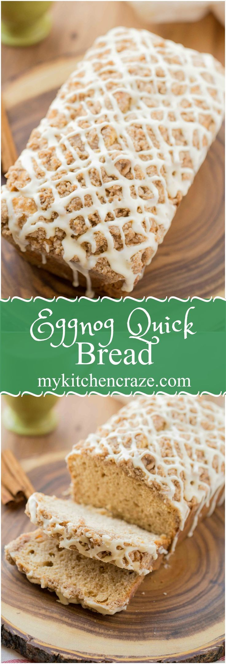 Eggnog Quick Bread should be on your holiday baking list this year! Moist and flavorful, this bread is a winner this season!