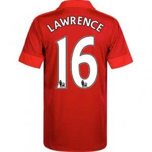 16-17 Leicester City Cheap Away Lawrence #16 Replica Football Shirt [I00299]