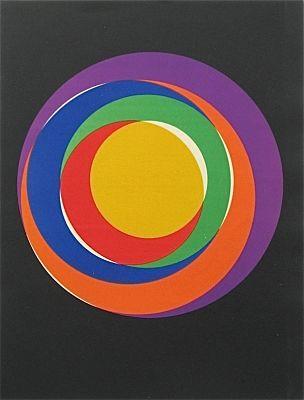 Max Bill - Variation 13, original Max Bill lithograph Art for sale.