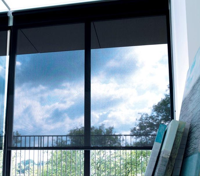 solar shades perfect for the patio shown in material 10 color black - Solar Shade