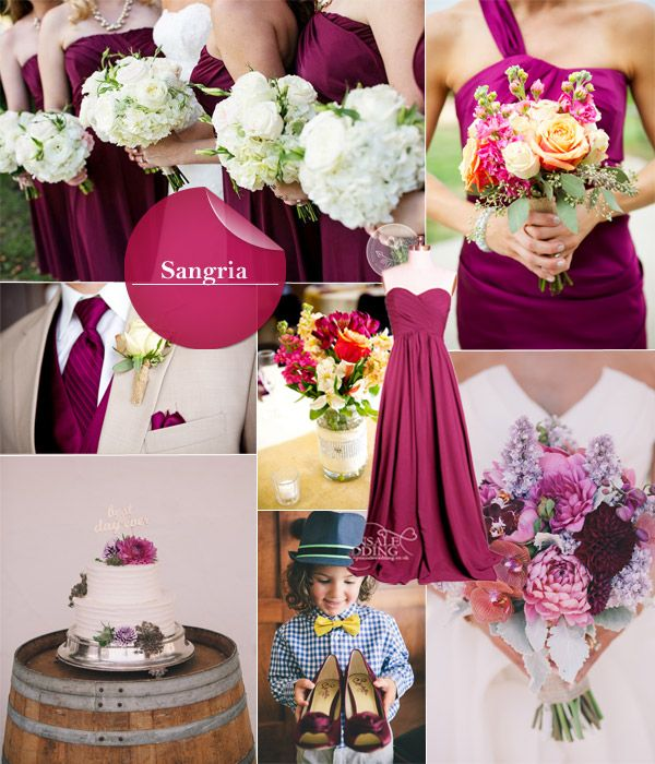 Top 10 Fall Wedding Colors for Bridesmaid Dresses 2014…                                                                                                                                                     Más