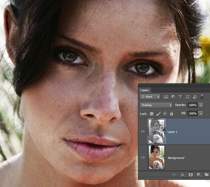 Adobe elements facial flaws
