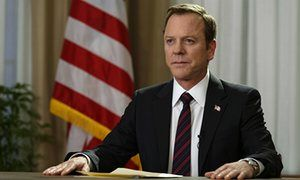 Kiefer Sutherland portrays Tom Kirkman in Designated Survivor.