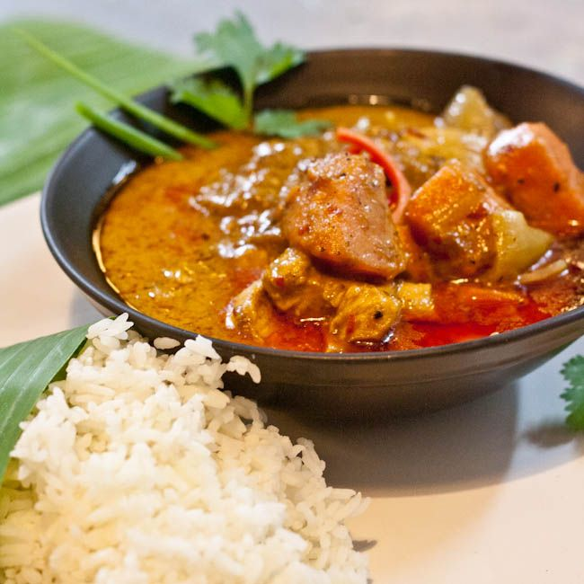 Thai Massaman Chicken Curry- great 1st massaman experience!  Good for a change from panang and red curry