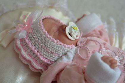 Шапочка на выписку, шапочка для новорожденных, для девочки, шапочка вязанная…