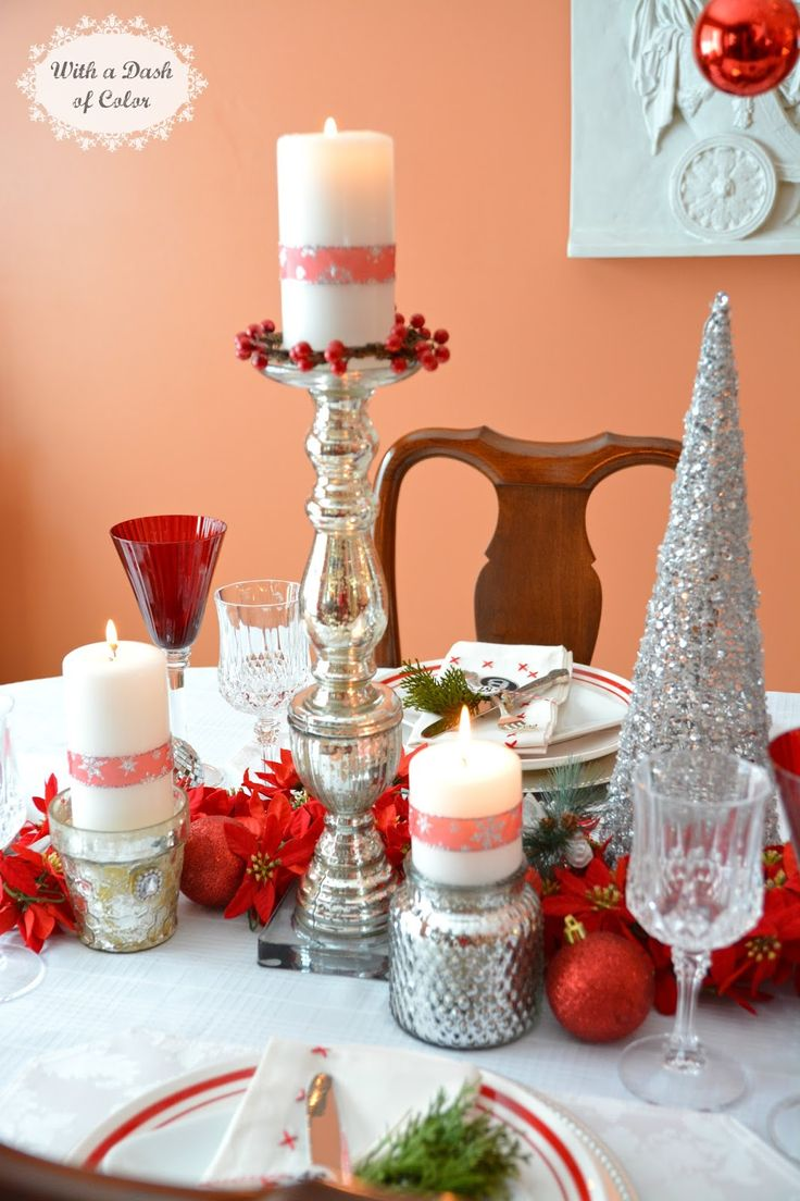 36 impressive christmas table centerpieces decoholic - With A Dash Of Color 2014 Holiday Tablescape In Scandinavian Colors Holiday Tablescapechristmas Table Decorationsscandinavian