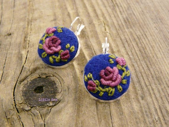 Bohemian Earrings Medium blue by LittleAnaAccessories on Etsy