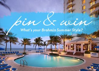 Show us your Brahmin summer style for a chance to win a Florida getaway for two! #pintowin #brahminsummerstyle