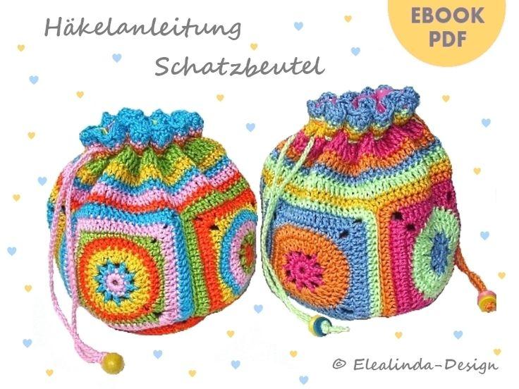 Schatzbeutel ~ Häkel- und Nähanleitung by Elealinda-Design ~ free pattern                                                                                                                                                      Mehr