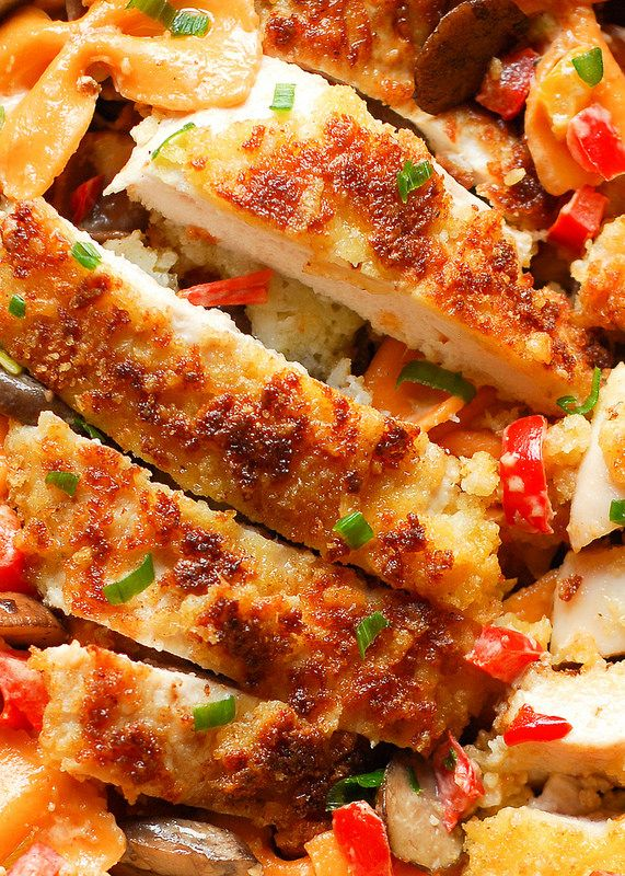 Louisiana Chicken Pasta - Parmesan Crusted Chicken in a Spicy New Orleans Sauce - Cheesecake Factory copycat recipe. = MAYBE, TAKES TIME TO FIX & COOK, BUT SOUNDS GOOD. =