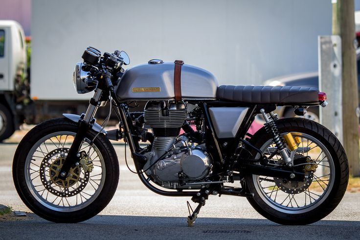 Unnaturally aspirated. A turbo-charged Royal Enfield Continental GT from Perth's MotoMAX workshop.  via returnofthecaferacers.com