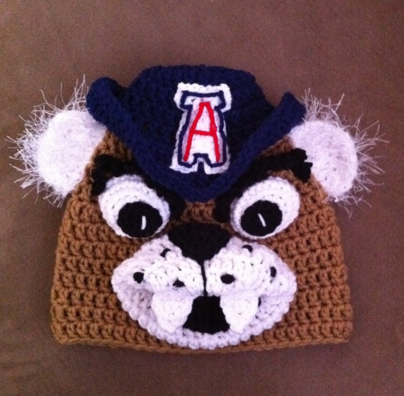 U of A Wilbur Wilber University of Arizona by KariesCrochetDesigns, $24.95