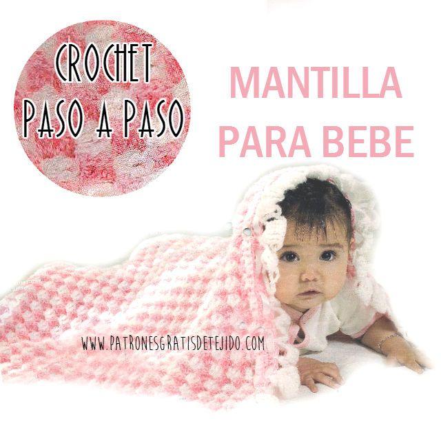 Como tejer mantilla para bebe y materiales | Crochet y Dos Agujas ...