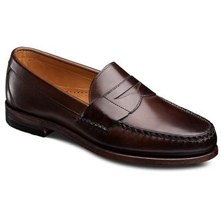 Allen Edmonds - Cavanaugh Penny Loafer Brown Burnished Leather $275. Dapper and destined for success, the Cavanaugh from Allen Edmonds will carry you to the top. This men's dress shoe is crafted with an upper made with premium calfskin leather in a hand-sewn construction. The penny loafer style allows for easy on/off. You're sure to be comfortable in the soft, breathable leather lining and the lightly cushioned footbed.
