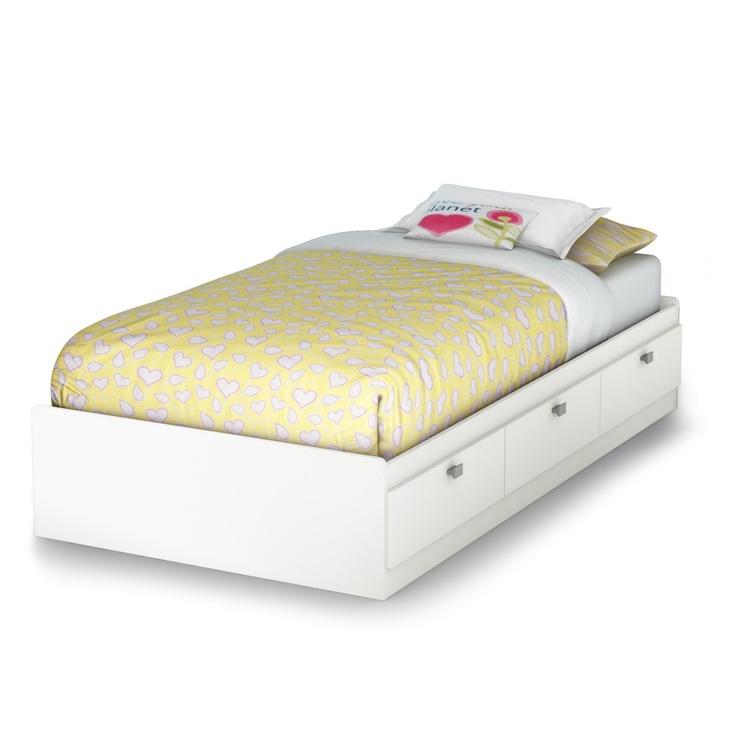 Sparkling Bookcase Storage Platform Bed - Platform Beds at Simply Platform Beds