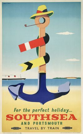 Poster, British Railways (Southern Region), For Happy Holidays Southsea and Portsmouth at Science and Society Picture Library
