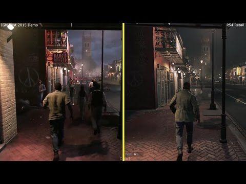 Mafia 3 IGN Demo 2015 vs 2016 PS4 Retail Graphics Comparison - YouTube