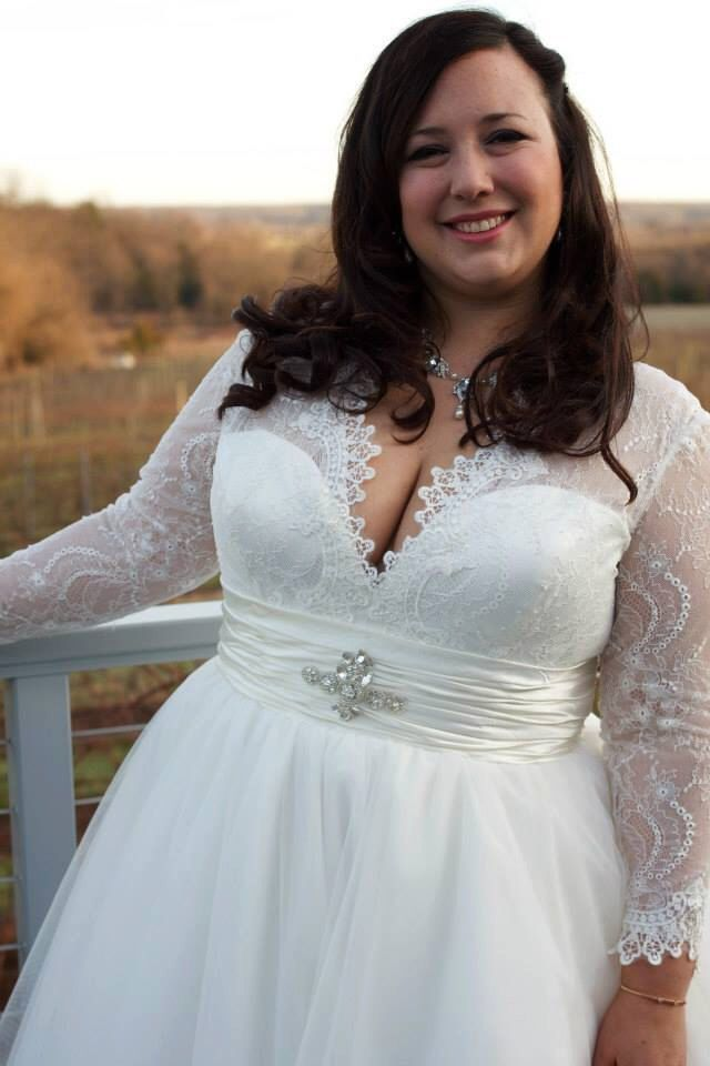 Plus Size Chantilly Lace And Tulle Ballgown With Long Sleeves Custom Made Wedding Dresses Pinterest