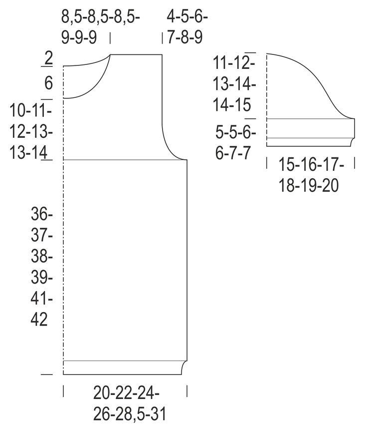 Spetsstickad kortärmad damtröja Novita Cotton Bamboo   Novita knits