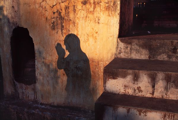 """The Sun never knew how wonderful it was until it fell on the wall of a building."" Louis Kahn, Architect quoted in the forward of the book 'In Praise of Shadows' by Junichiro Tanizaki.  Image: Bodh Gaya, India"