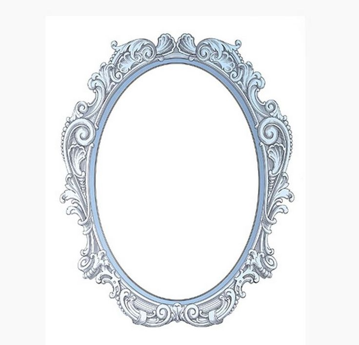 Decolfa Mirror Sticker (Blue) For DIY Decorate Home Interior Design Art Room