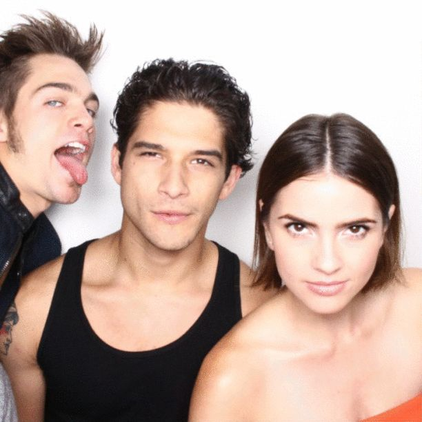 Dylan Sprayberry, Cody Christian, Tyler Posey, and Shelley Hennig, 'Teen Wolf' - Comic Con 2015 - EW's Celebrity GIF Guide, Day 1 - EW.com