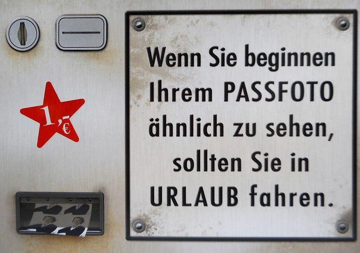 Passfoto Urlaub Automat Postkarte 15 cm Spruch Karte Sammelkarte Deko GP 143…