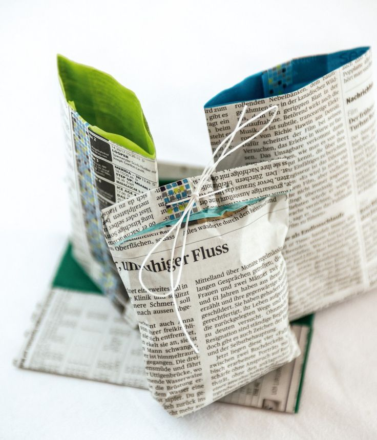 Newspaper gift wrap