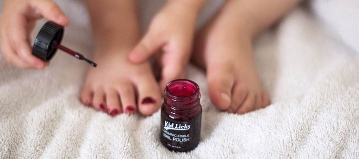 The safest kids nail polish on the market is organic and edible