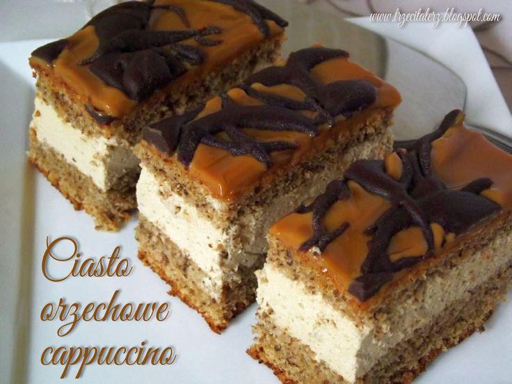 Ciasto orzechowe cappuccino powstało na bazie przepisu mojej mamy na pyszny tradycyjny tort orzechowy z masą kawową. Orzechowe blaty są...