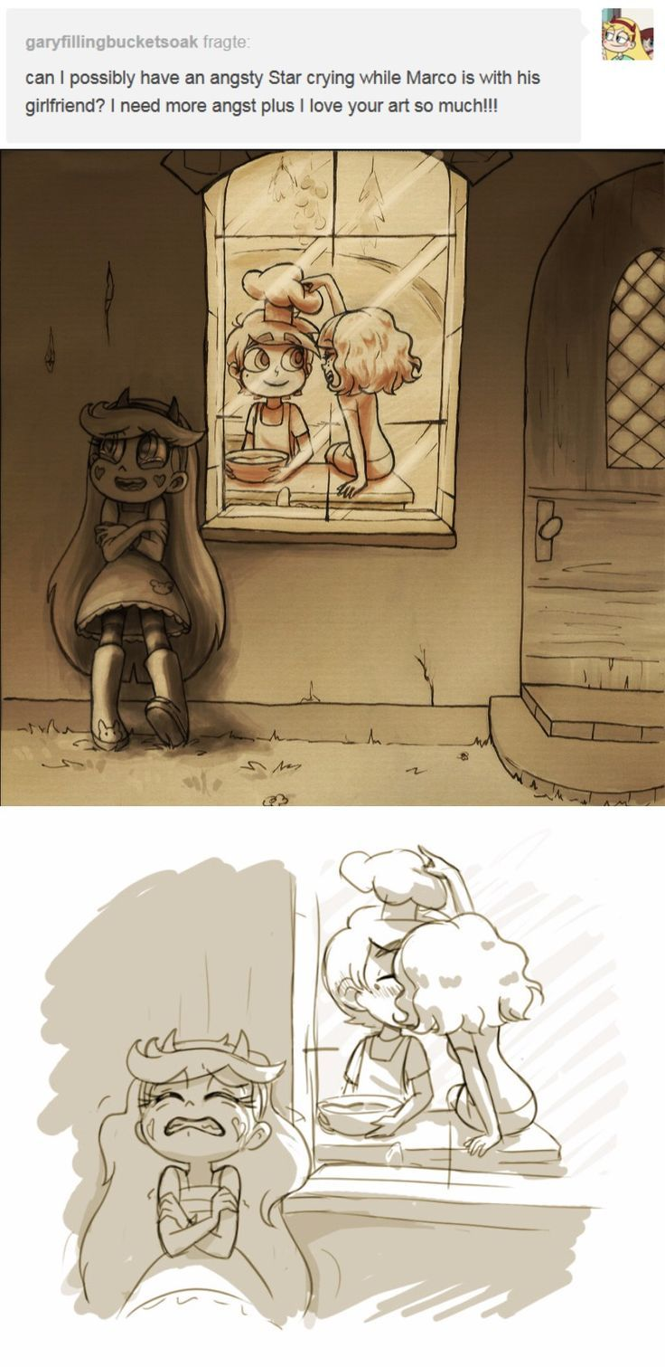 If Star would just move a few feet through the door they would ask her to join them in cooking, but - alas! - churning teen hearts | https://lomejordelaweb.es/