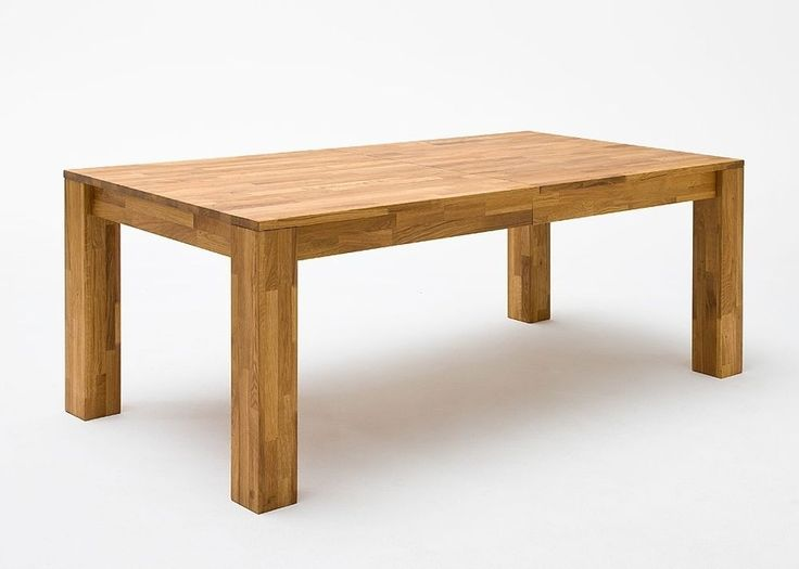 Esstisch Wildeiche massiv Holz ausziehbar 5790. Buy now at https://www.moebel-wohnbar.de/esstisch-ausziehbar-paul-esszimmertisch-200x100-wildeiche-massiv-5790.html