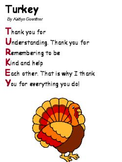 26 best images about Thanksgiving poetry for kids. on Pinterest ...