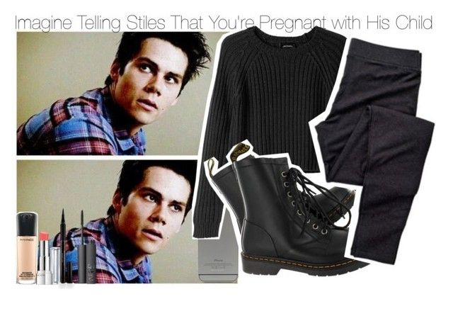 """""""Imagine Telling Stiles That You're Pregnant with His Child"""" by fandomimagineshere ❤ liked on Polyvore featuring Monki, Dr. Martens, MAC Cosmetics, Revlon, Elizabeth Arden and NARS Cosmetics"""