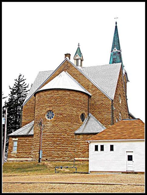 Rear elevation of St. Marys Catholic Church    St. Benedict, Kansas
