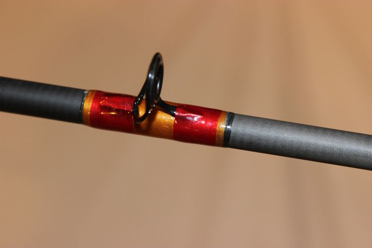 Orange under wrap with red fishing rods ideas pinterest for Red fishing rod