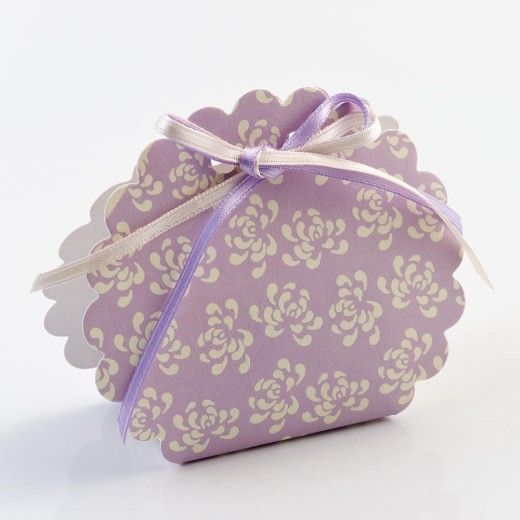 Lilac Vintage Scallop Edge Boxes