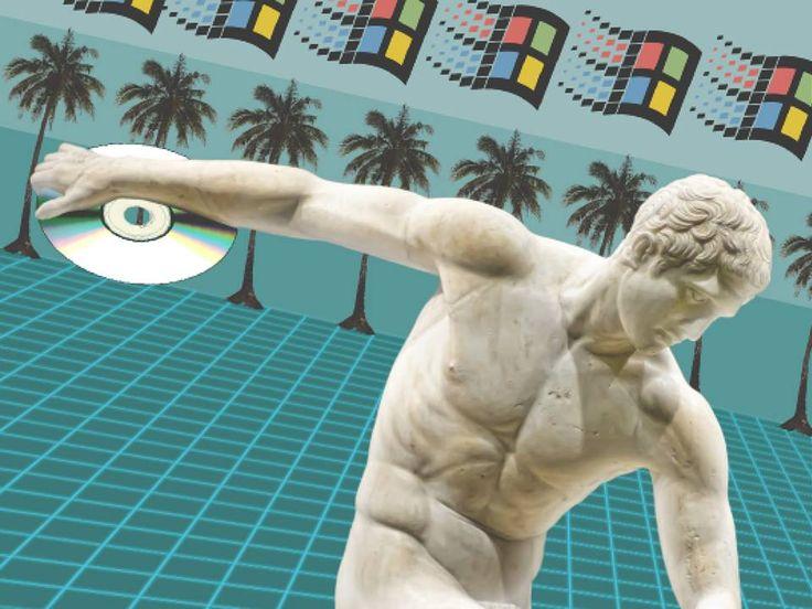 Vaporwave art Windows 95