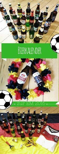 Bierkalender zur Fußball-EM, Bier aus ganz Europa, internationale Biersorten, Bier. Die Liste mit allen Bieren sowie dem kompletten Spielplan zur EM 2016 findet Ihr jetzt auf: http://blog.ernstings-family.com/2016/06/bierkalender/