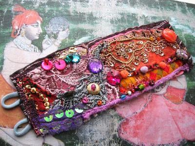 RESERVED Festival, Gypsy Bracelet, Antique Indian, Embroidery, Vintage, Lace, Bohemian Gypsy, Boho Jewlery
