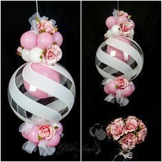 Balloon decoration # flower balloon #pink #White# +++ROSA Y BLANCO GLOBOS DECORACION BODA CUMPLEAÑOS EVENTO CELEBRACION QUINCEAÑERA BAUTIZO Y COMUNION NIÑA #decoracionevento