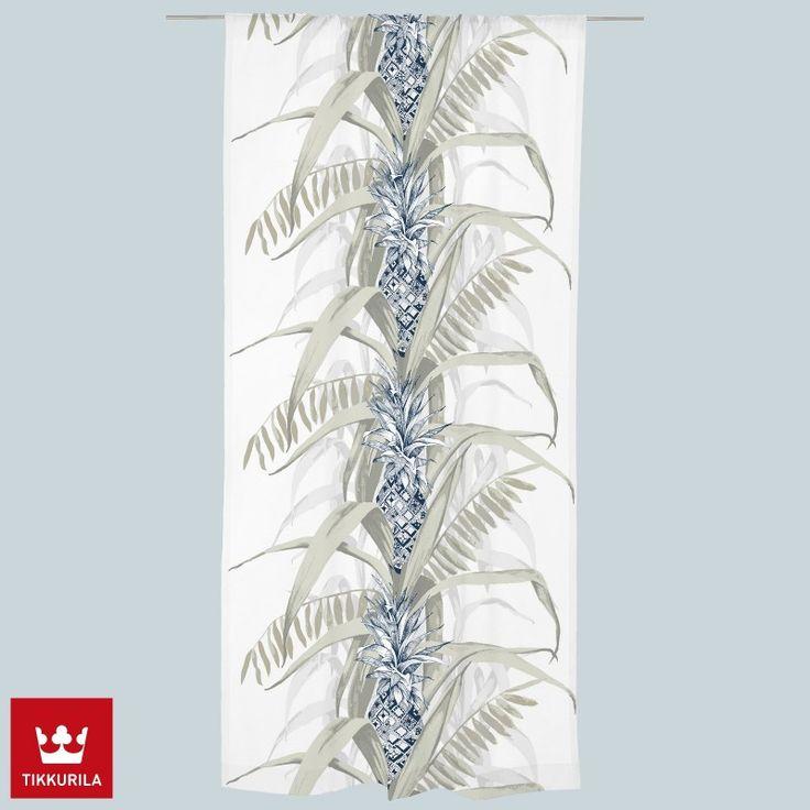 Pina Colada -valmisverhon ananasaiheinen kuosi on Vallilan suunnittelija Saara Kurkelan suunnittelema.