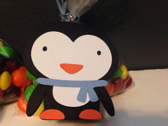 Blue Penguin ONEderland Party Favor Tag Winter Wonderland