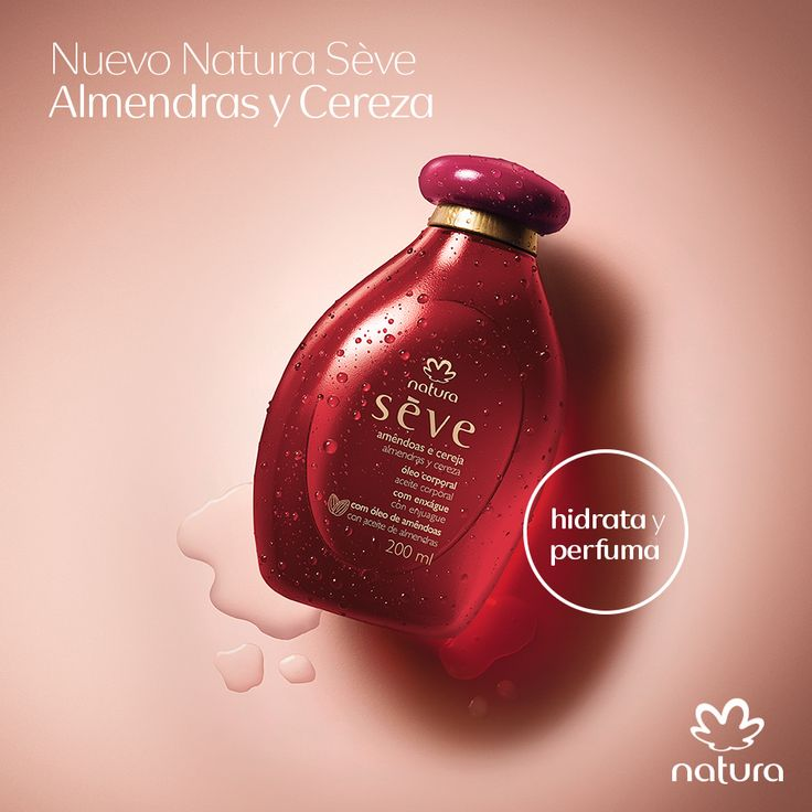 Tu piel suave, perfumada e hidratada por 24 horas, sin salir de la ducha con el nuevo Natura Sève Cereza y Almendras.