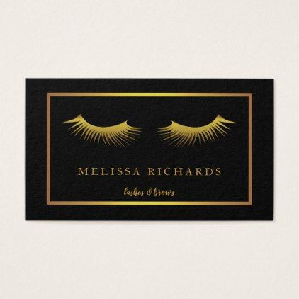 Professional Eyelashes Makeup Artist Business Card - artists unique special customize presents