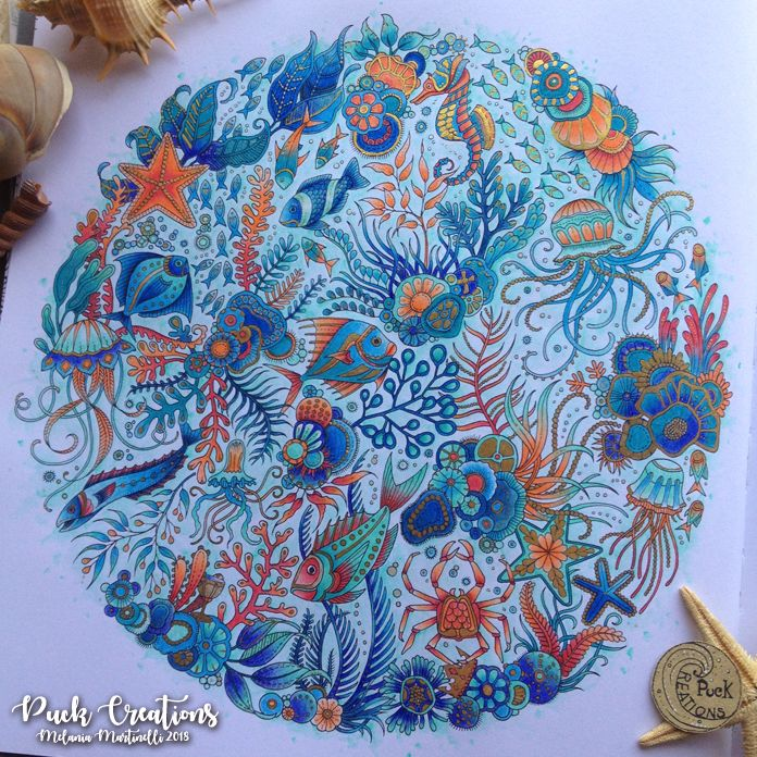 Lost Ocean Coloring Book By Johanna Basford #johannabasford #lostocean Lost  Ocean Coloring Book, Johanna Basford Coloring Book, Lost Ocean